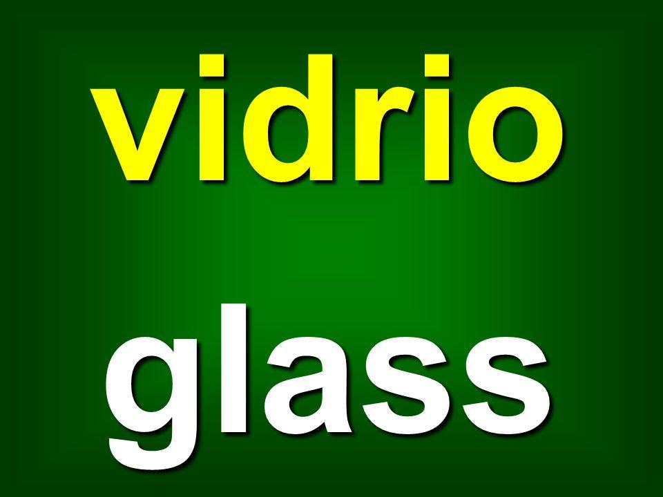 vidrio glass