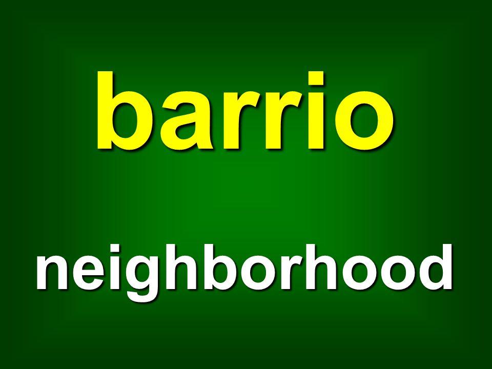 barrio neighborhood