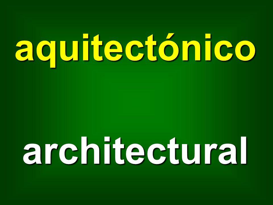 aquitectónico architectural