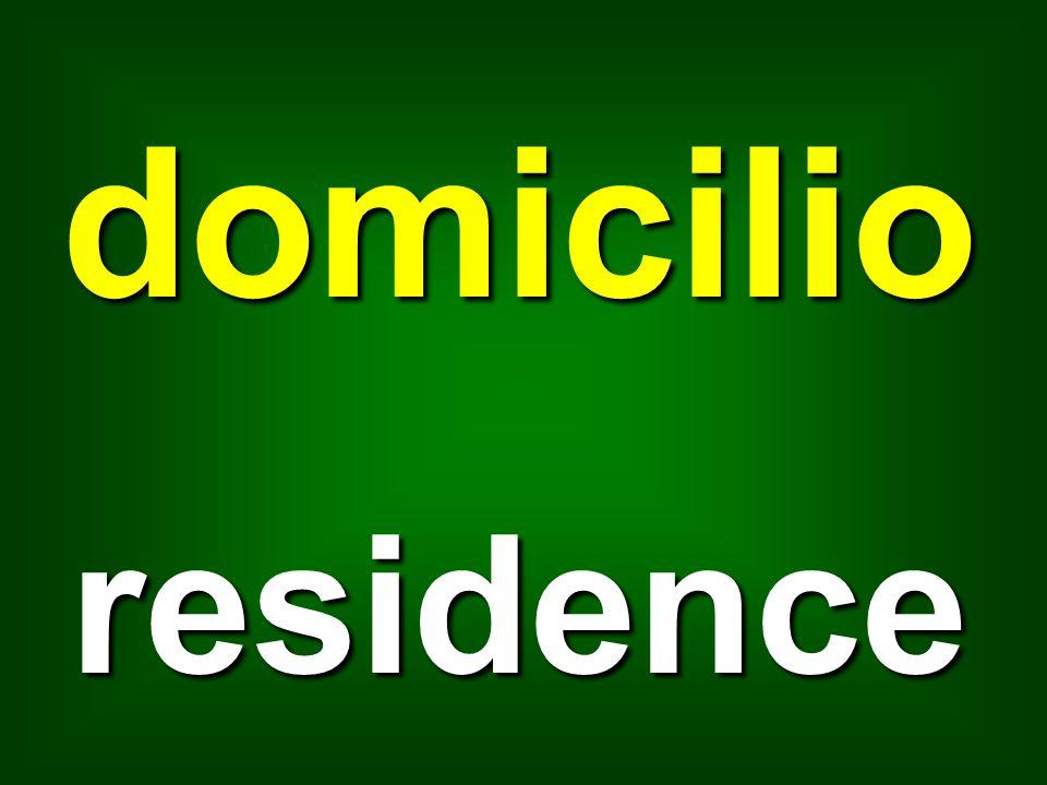 domicilio residence