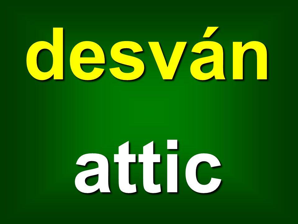 desván attic