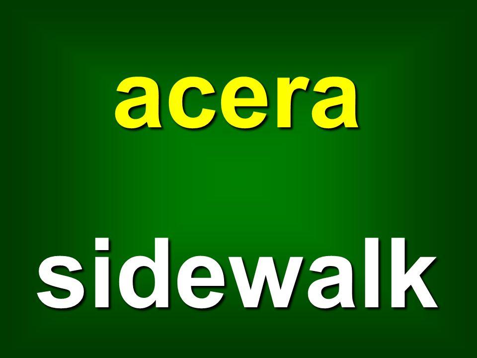 acera sidewalk