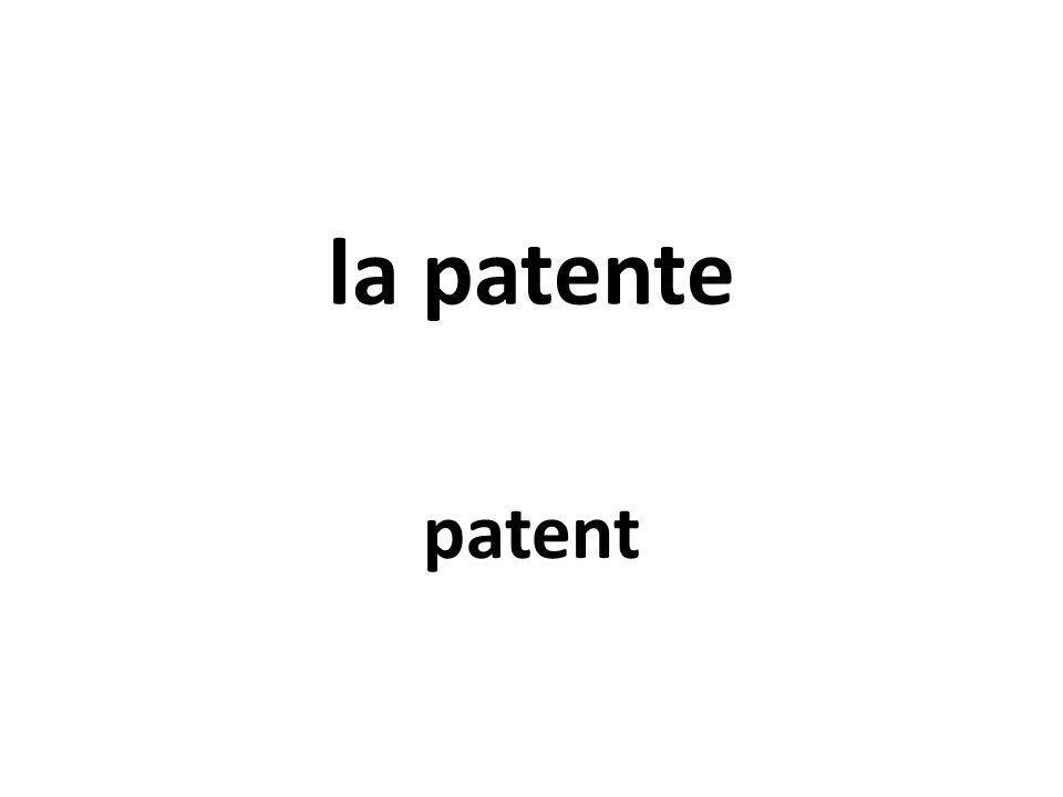 la patente patent
