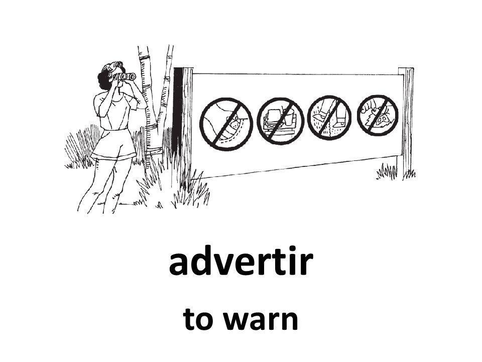 advertir to warn