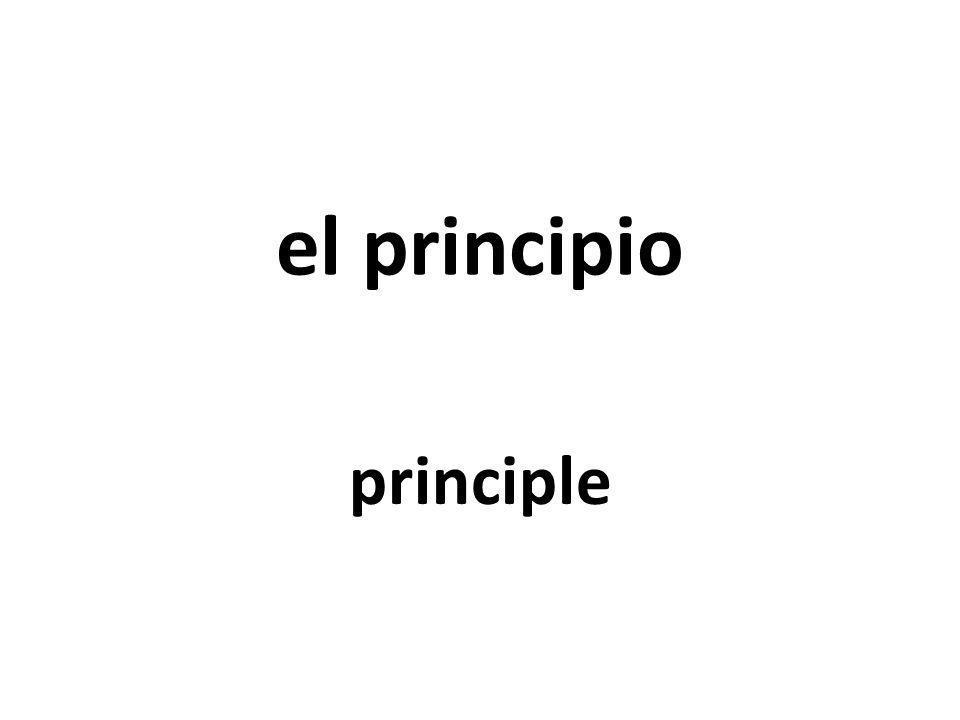 el principio principle