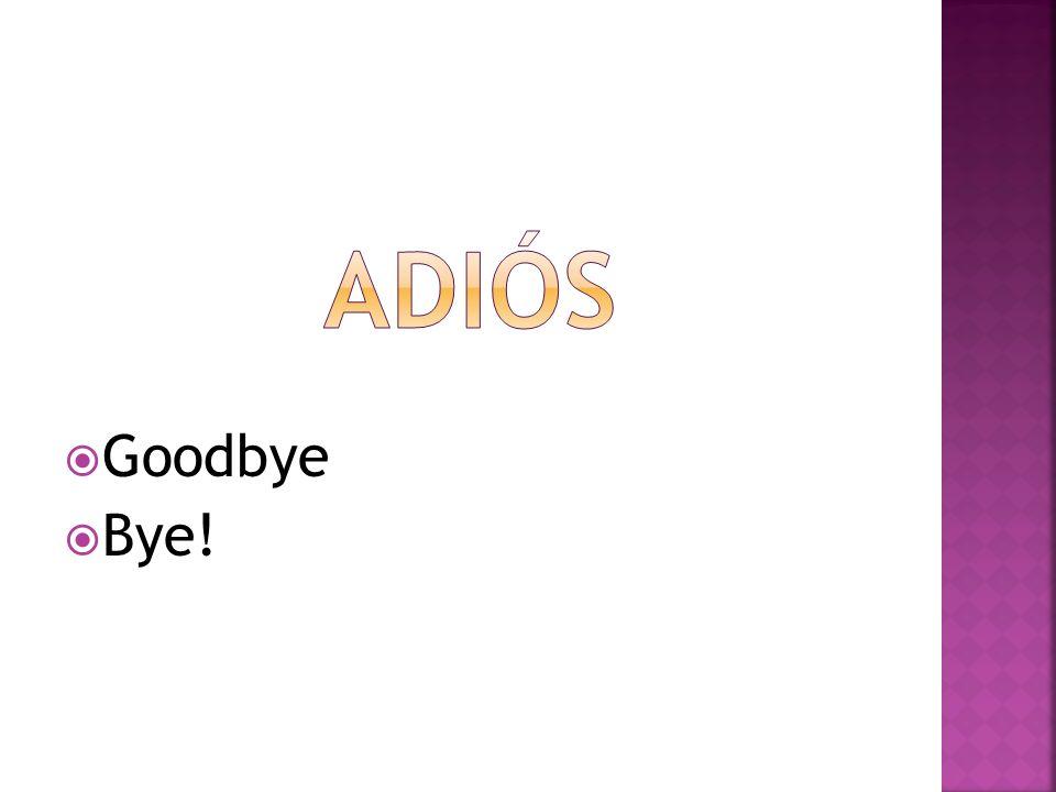 Goodbye Bye!