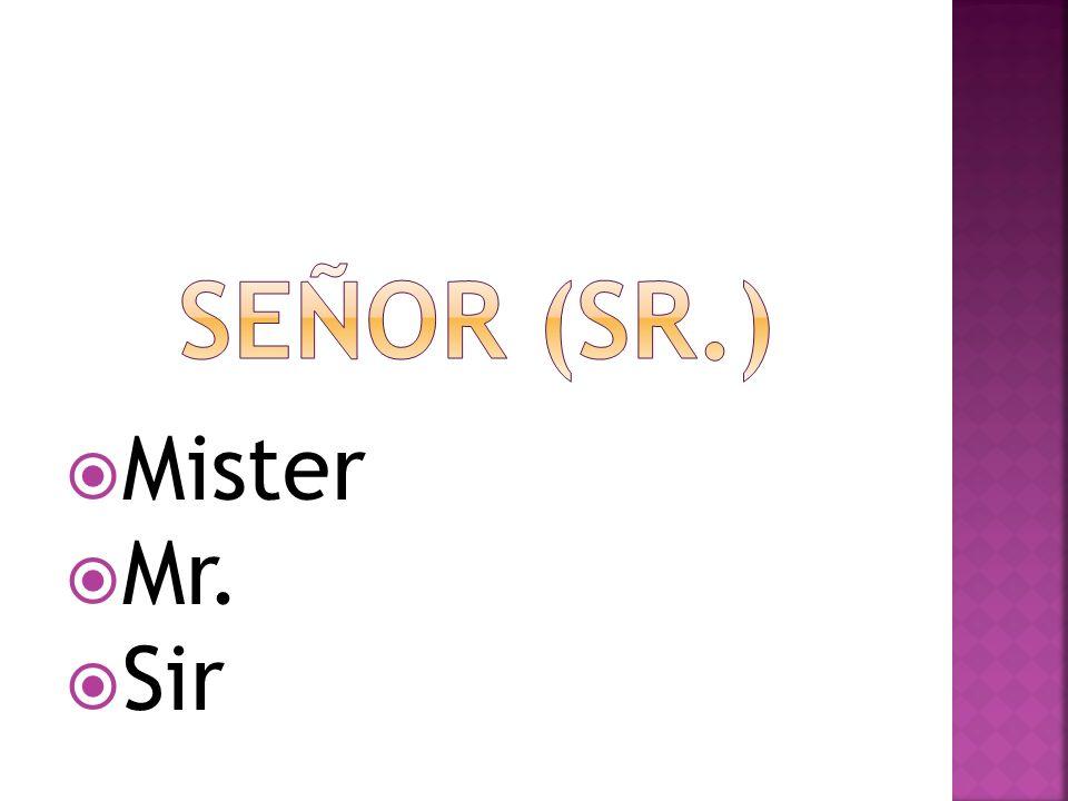Mister Mr. Sir