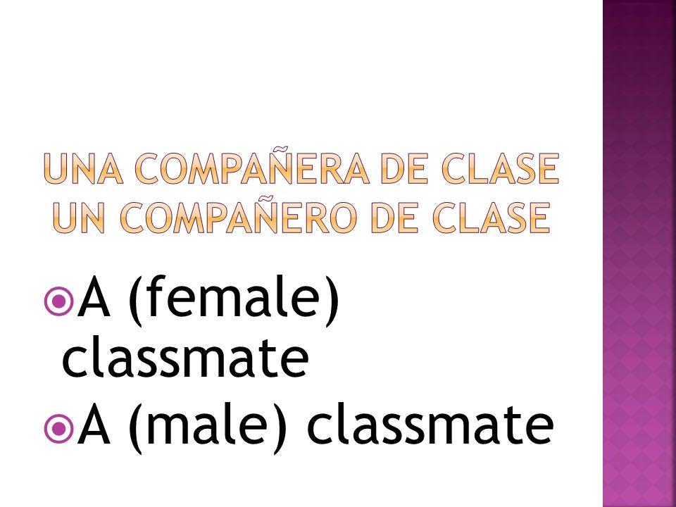 A (female) classmate A (male) classmate