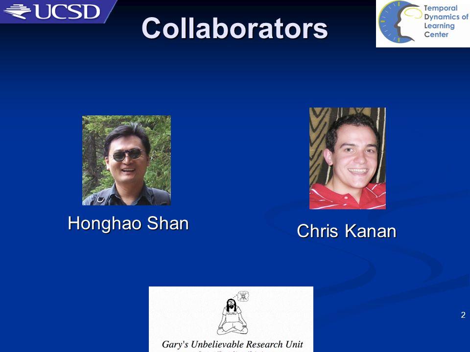 2 Collaborators Honghao Shan Chris Kanan