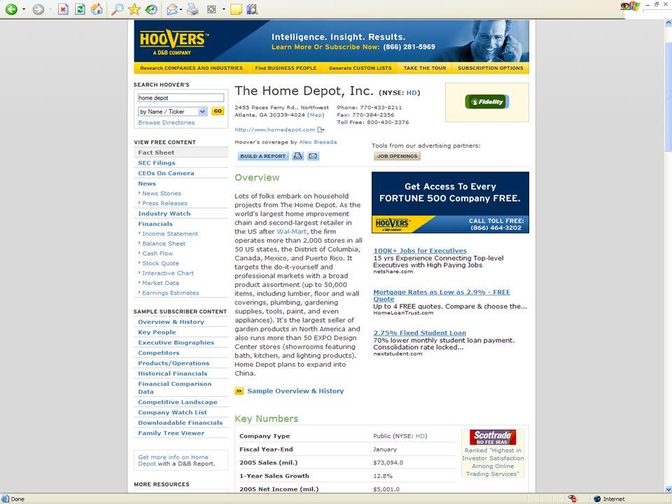 Dialog – Investext PDF, File 745 - http://library.dialog.com/bluesheets/html/bl0745.html