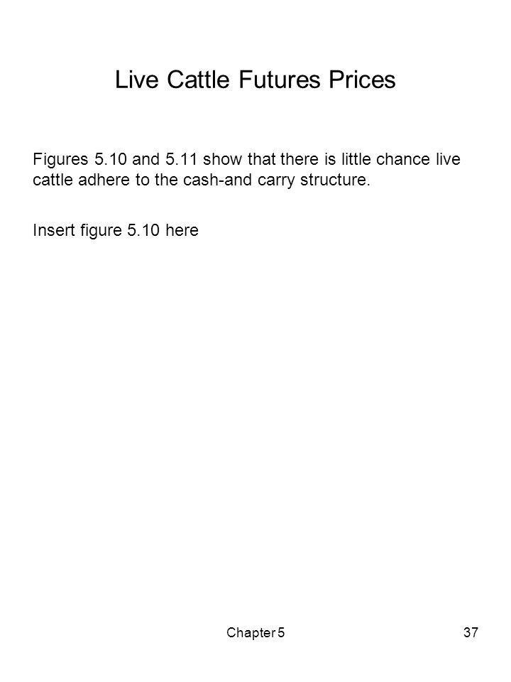 Chapter 537 Live Cattle Futures Prices Figures 5.10 and 5.11 show that there is little chance live cattle adhere to the cash-and carry structure. Inse