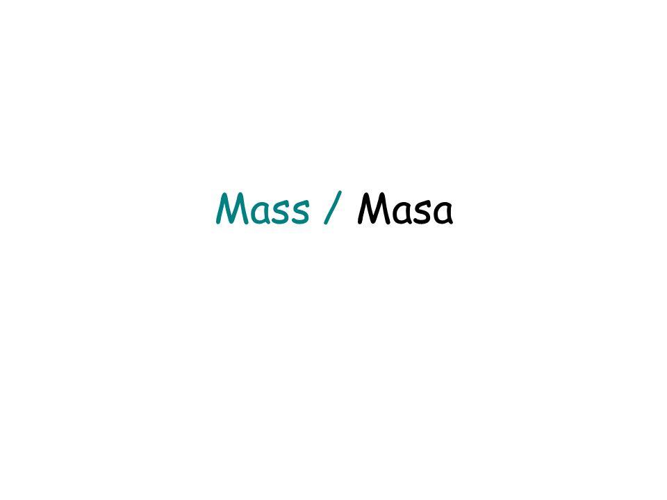 Measurement-A Common Language Médidas – Un lenguaje Común Mass / Masa