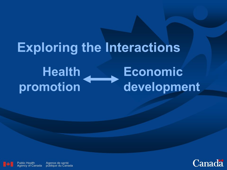 Exploring the Interactions Health promotion Economic development