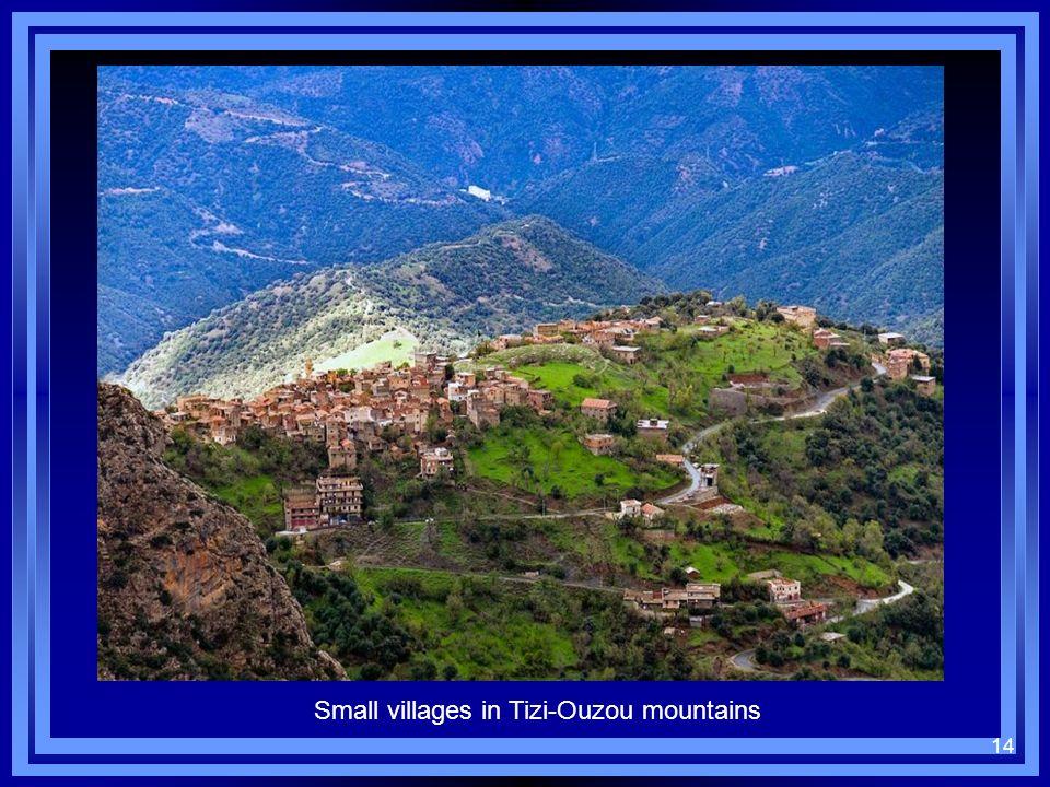 14 Small villages in Tizi-Ouzou mountains