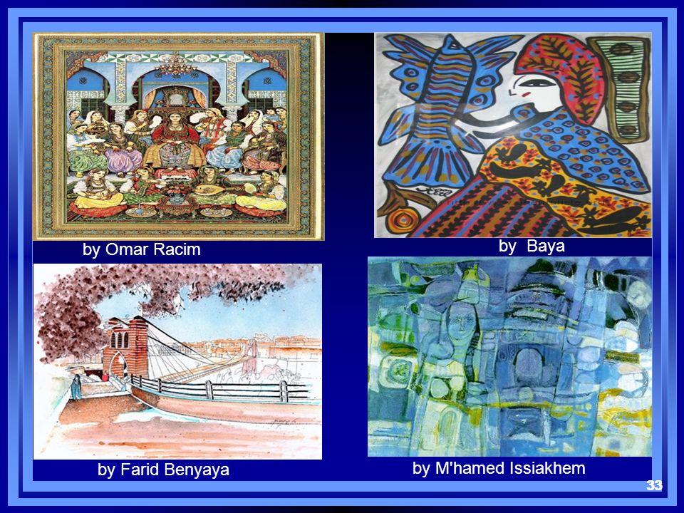 33 by Omar Racim by Baya by Farid Benyaya by M'hamed Issiakhem 33