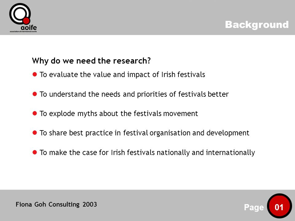 Background Page 01 Why do we need the research.