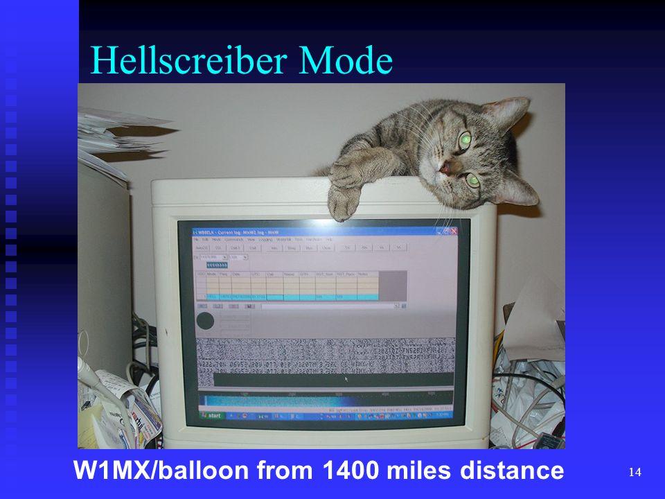 14 W1MX/balloon from 1400 miles distance Hellscreiber Mode