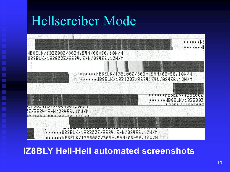 15 IZ8BLY Hell-Hell automated screenshots Hellscreiber Mode