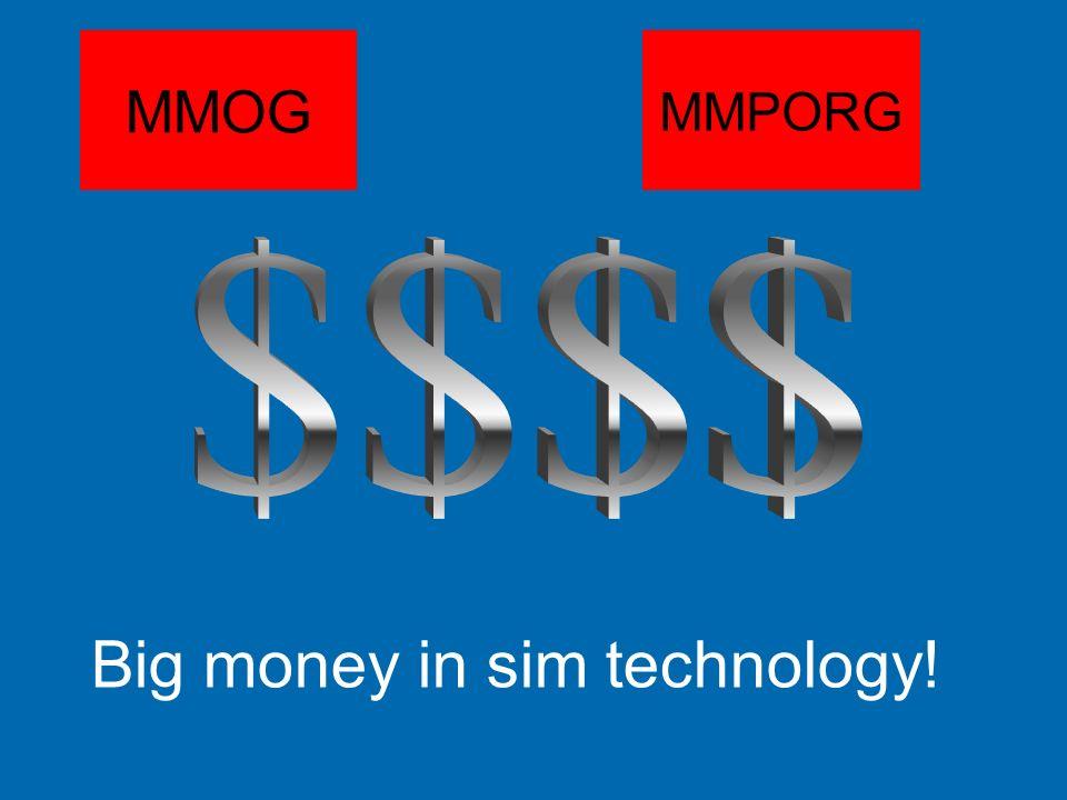 MMOG MMPORG Big money in sim technology!