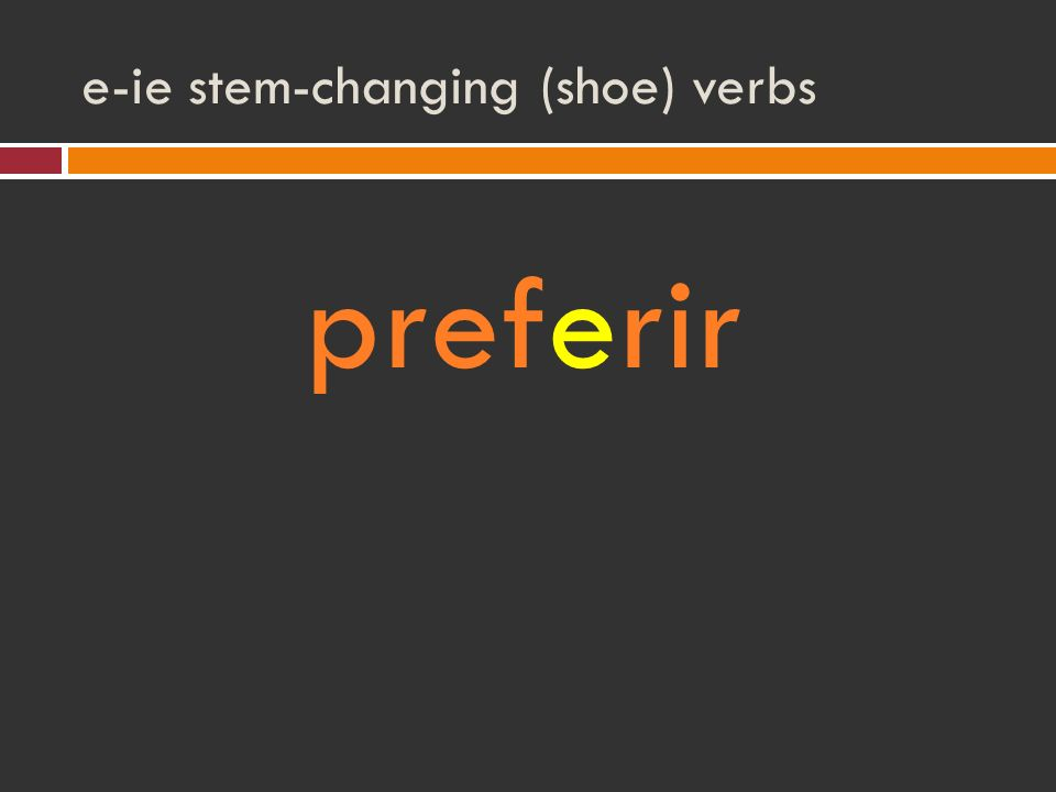 e-ie stem-changing (shoe) verbs preferir