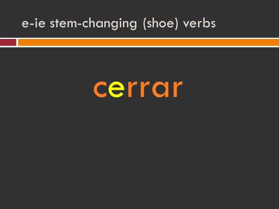 e-ie stem-changing (shoe) verbs cerrar