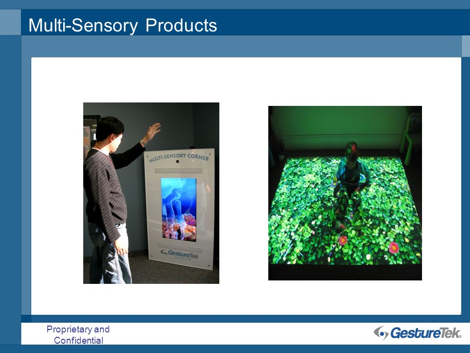 Proprietary and Confidential Multi-Sensory Products