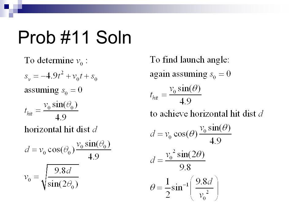Prob #11 Soln