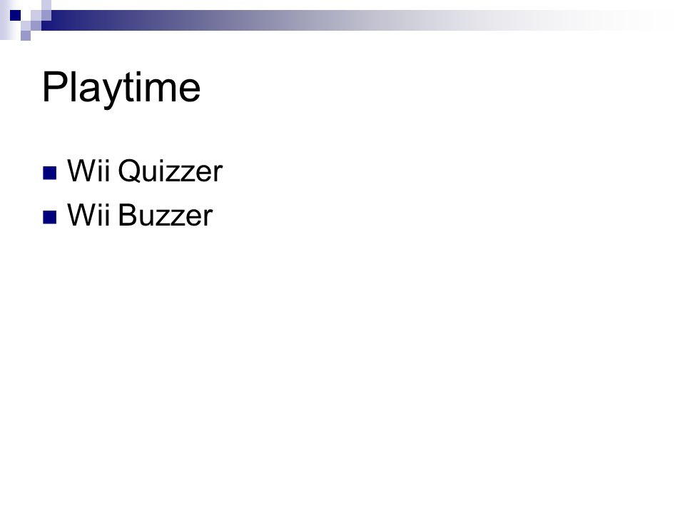 Playtime Wii Quizzer Wii Buzzer