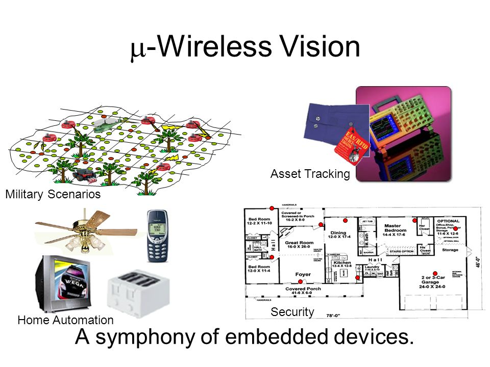 The Pieces Exist Low-power CMOS radios System-on-chip manufacturing capabilities Ad-hoc networking protocols Distributed algorithms Low-power microcontrollers How do they fit together?