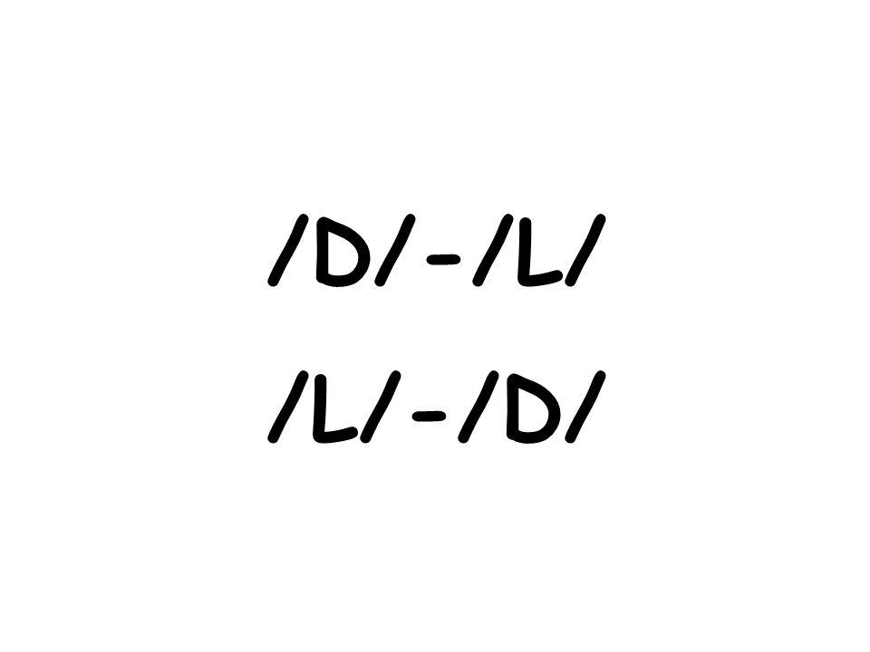 /D/-/L/ /L/-/D/