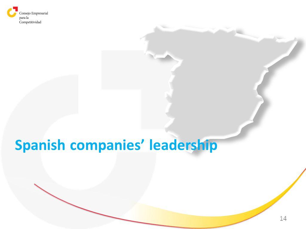 14 Spanish companies leadership