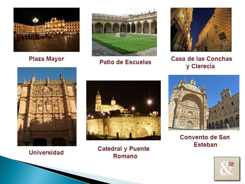 Plaza Mayor Catedral y Puente Romano Casa de las Conchas y Clerecía Universidad Convento de San Esteban Patio de Escuelas