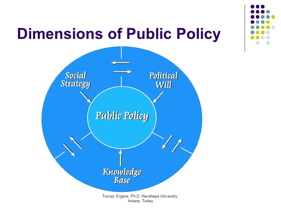 Tuncay Ergene, Ph.D. Hacettepe University, Ankara, Turkey Dimensions of Public Policy