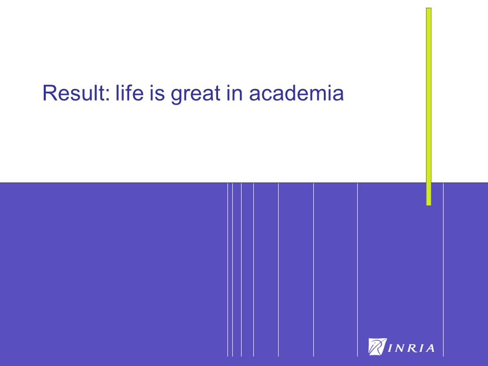 25 Result: life is great in academia