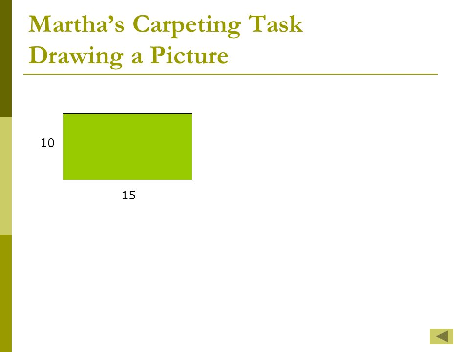 Marthas Carpeting Task Drawing a Picture 10 15