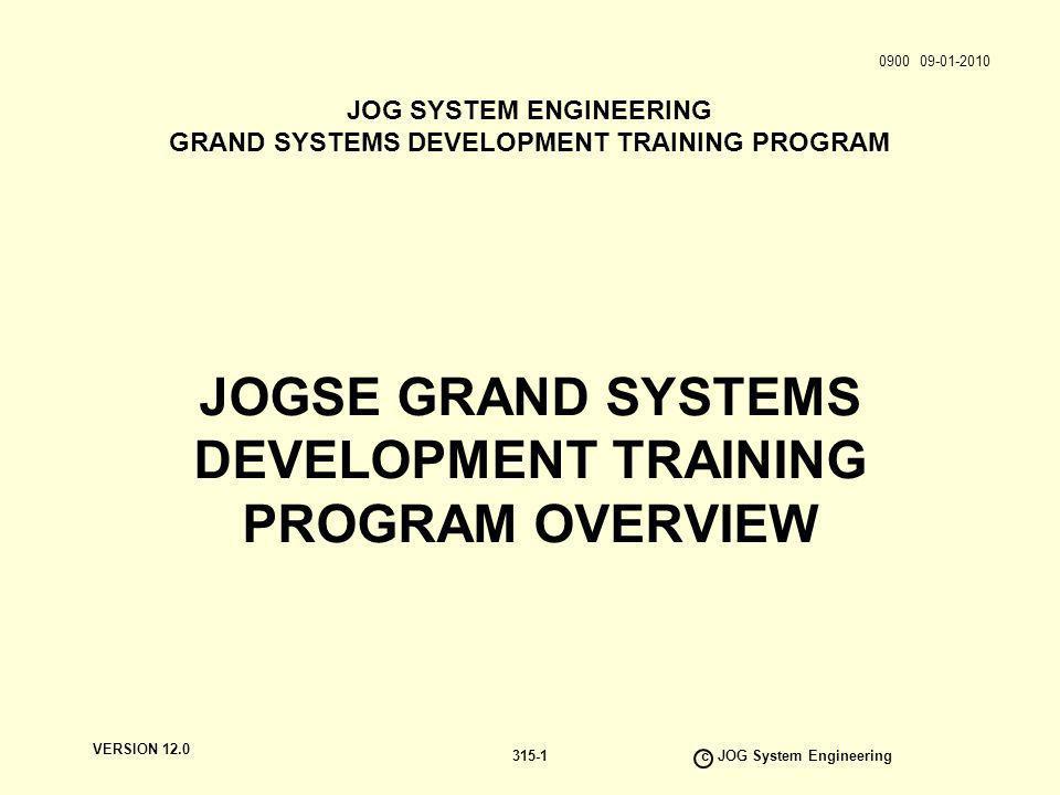 VERSION 12.0 c JOG System Engineering 315-12 ALL KNOWLEDGE GENERALIST KNOWLEDGE BASE DOMAIN KNOWLEDGE BASE SPECIALIST KNOWLEDGE BASE BREADTH OF KNOWLEDGE DEPTH OF KNOWLEDGE Management We Are All Specialists