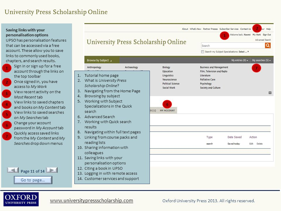 www.universitypressscholarship.comwww.universitypressscholarship.com Oxford University Press 2013. All rights reserved. Saving links with your persona