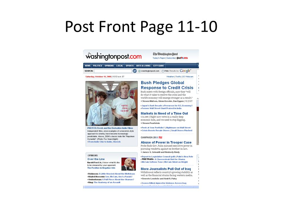 Post Front Page 11-10