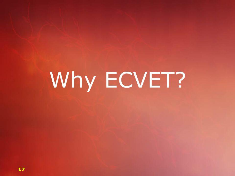 Why ECVET? 17