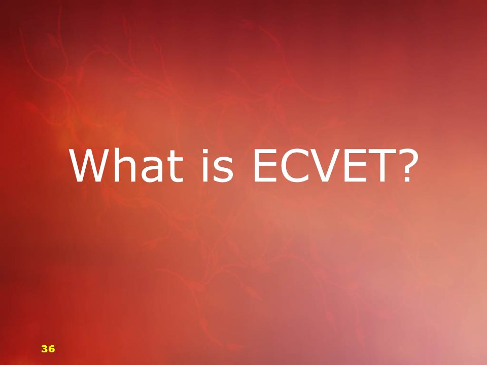 What is ECVET? 36