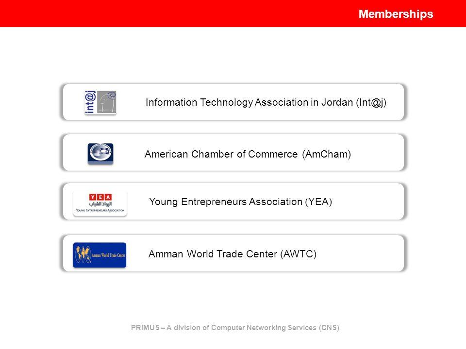 Young Entrepreneurs Association (YEA) Information Technology Association in Jordan (Int@j) American Chamber of Commerce (AmCham) Amman World Trade Cen
