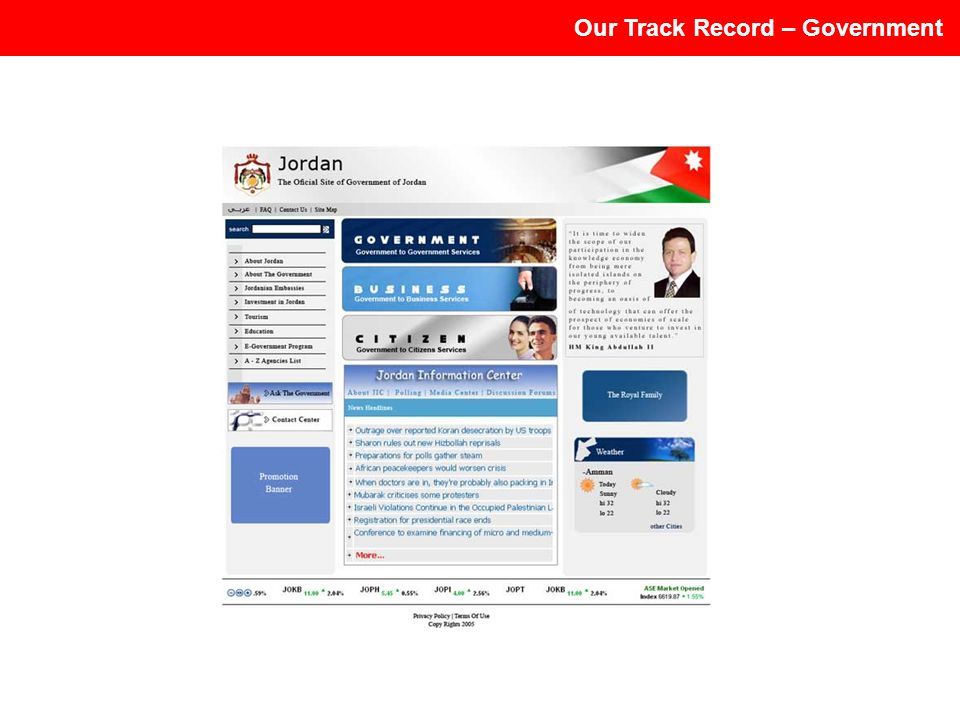 Our Track Record – Government