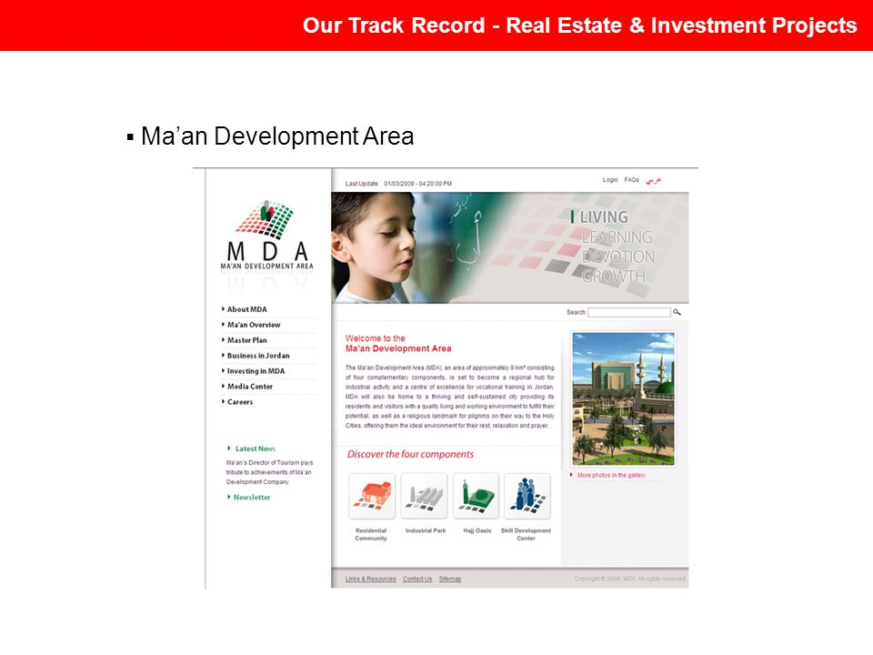 Maan Development Area Our Track Record - Real Estate & Investment Projects
