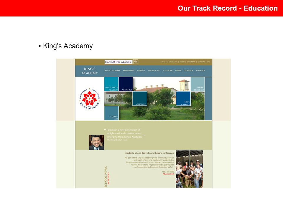 Our Track Record - Education Kings Academy
