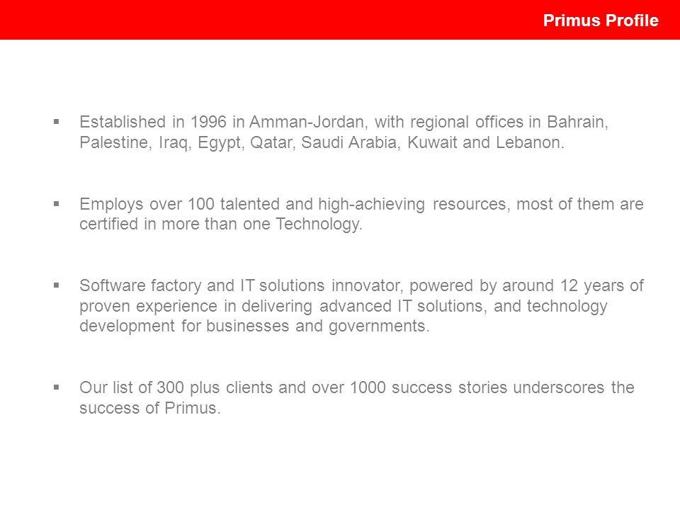 Established in 1996 in Amman-Jordan, with regional offices in Bahrain, Palestine, Iraq, Egypt, Qatar, Saudi Arabia, Kuwait and Lebanon. Employs over 1