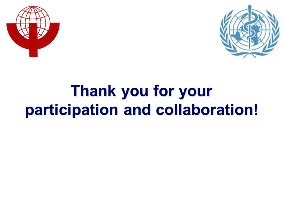 Thank you for your participation and collaboration!
