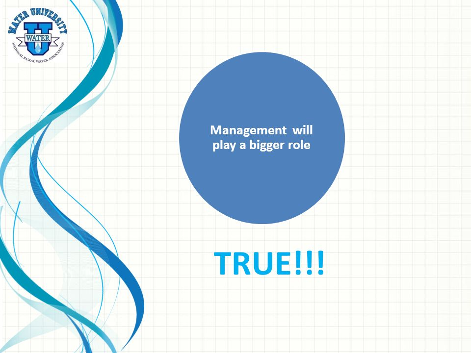 Management will play a bigger role TRUE!!!
