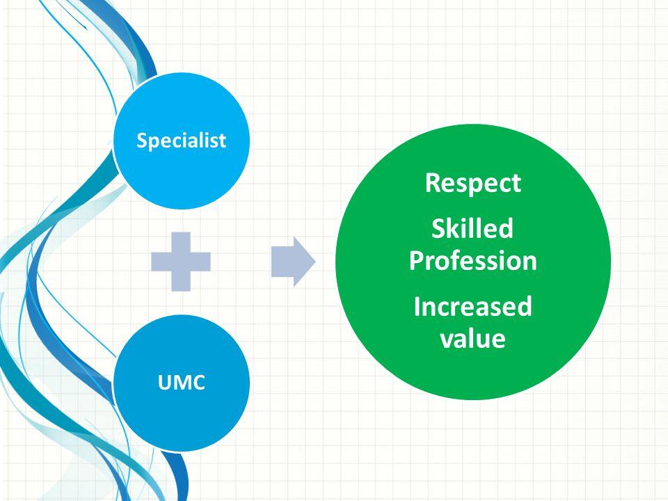 SpecialistUMC Respect Skilled Profession Increased value