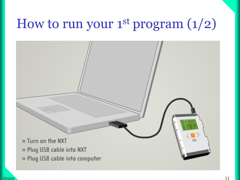 11chung How to run your 1 st program (1/2)