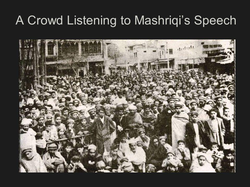 A Crowd Listening to Mashriqis Speech